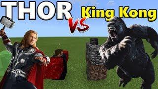 THOR vs KING KONG | Minecraft PE