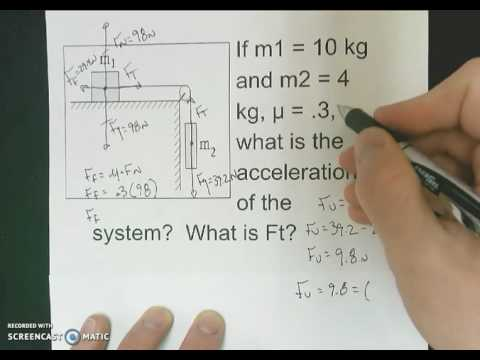 Solving For Force of Tension - Mass, Pulley, and Table Problem