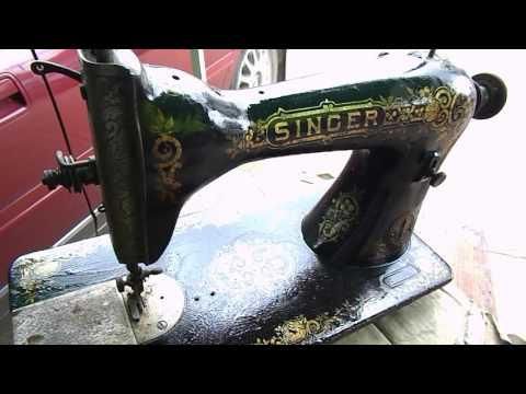 Antique Sewing Machine Head Clean Up