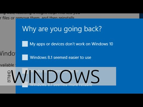 Uninstall Windows 10 and Downgrade to Windows 8.1