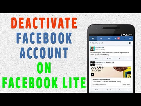 How to Deactivate Facebook Account on facebook lite
