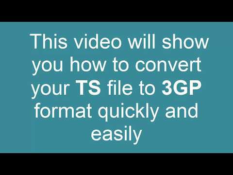 How to Convert TS to 3GP