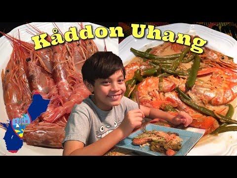 Chamorro Food! Giant Prawns in Coconut Milk (Kaddon Uhang )