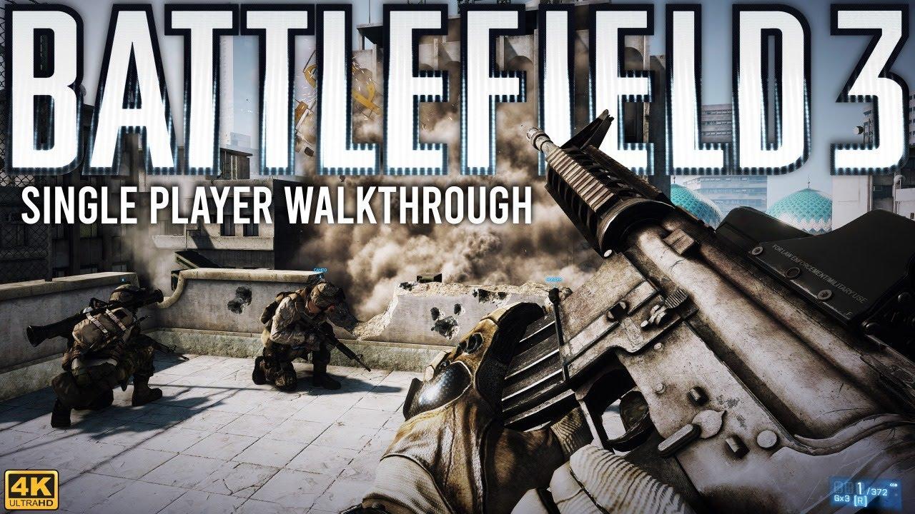 Battlefield 3 Single Player Walkthrough - Full Game 4K 60FPS