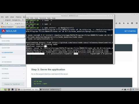 How to create Angular project using @angular/cli