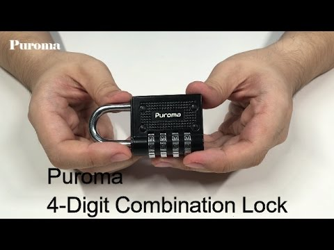 User Guide - How to Set and Reset Puroma 4 Digit Combination Lock - Official Ver.