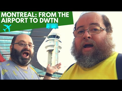 TAKING A SHUTTLE FROM THE AIRPORT TO DOWNTOWN MONTREAL | The Fluffies Channel
