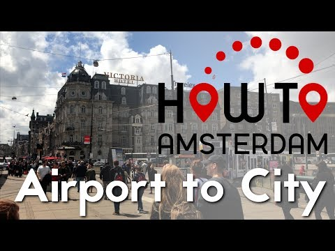 The most efficient way to travel from Schiphol Airport to the city centre of Amsterdam.