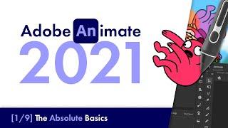Adobe Animate 2021: The Absolute Basics [#1] | Beginners Tutorial
