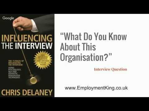 what do you know about our company interview question