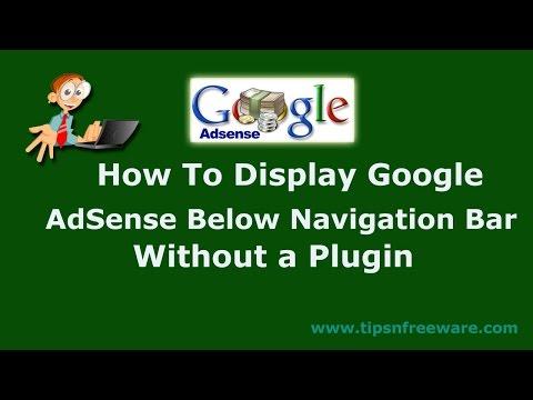 How to display google adsense below navigation bar