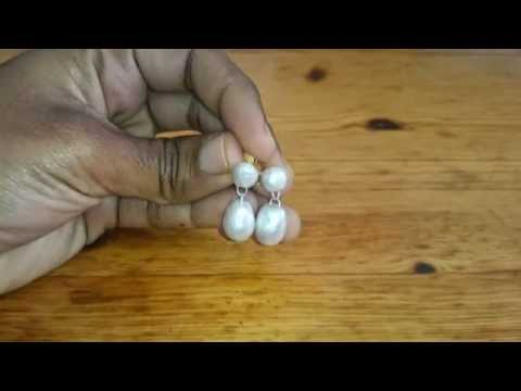 How to make terracotta faux pearl earrings - terracotta/clay jewellery making tutorial