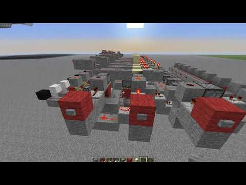 Minecraft: Redstone Binary Up/Down Counter Tutorial