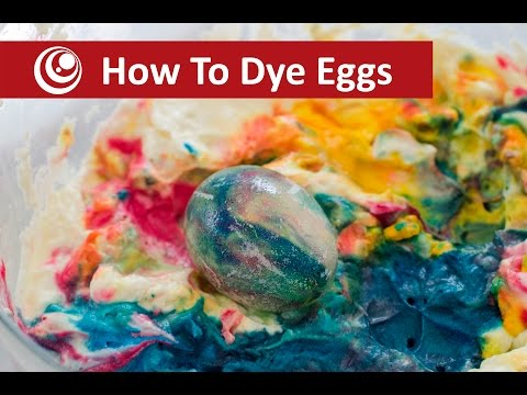 How to Dye  Easter Eggs  Eggs With Whipped Cream & Food Colouring