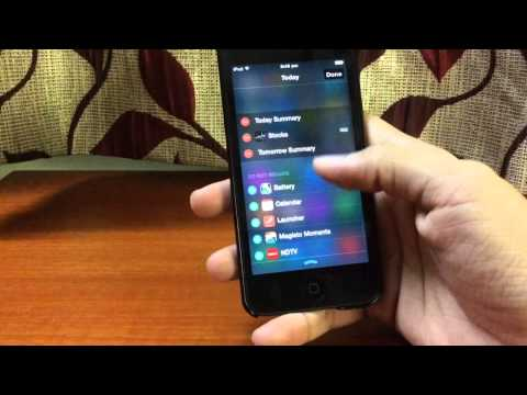 How to enable Widgets on iPhone/iPad/iPod touch