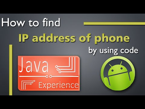 How to find IP address of Android device programatically