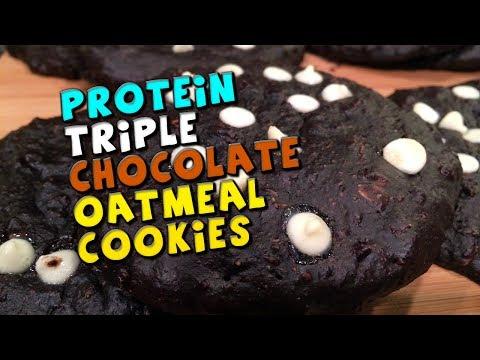 PROTEIN Triple Chocolate Oatmeal Cookies Recipe