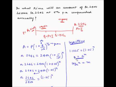 Compound Interest - Example 7 - Calculate time period