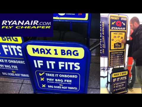 Ryanair - How to board a large baggage