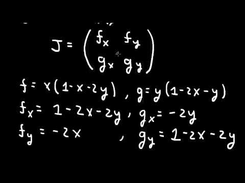 Nonlinear odes: fixed points, stability, and the Jacobian matrix