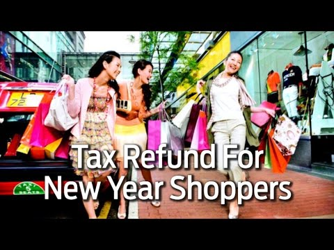 Tax Refund for New Year Shoppers