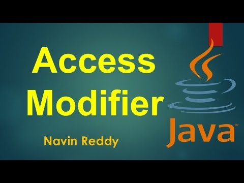 #8.2 Java Tutorial | Access Modifiers
