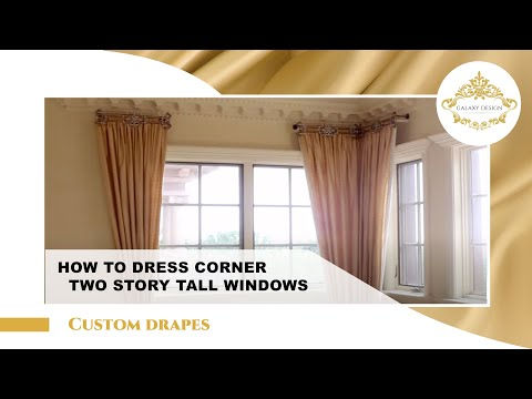 Video #7: Tall Window Curtain Design | Crystal Drapery Hardware | Swarovski Crystal Elements