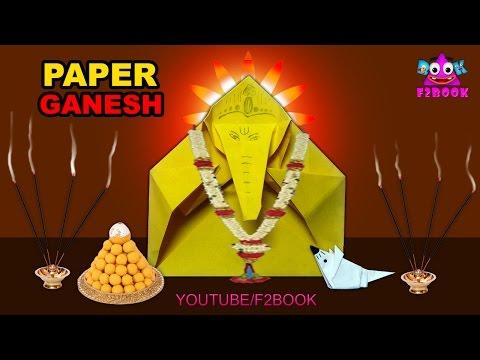 lord Ganesha And Musuka Paper Folding | Easy Origami DIY Craft | God Vinayaka Making Videos 159