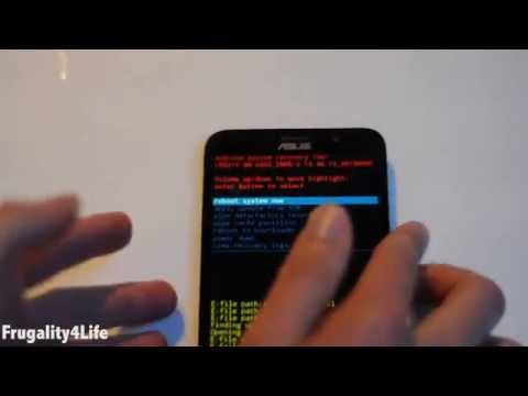 Asus Zenfone 2 recovery mode error screen fix