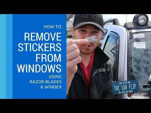How to Remove Stickers from Auto Glass with Razor Blades