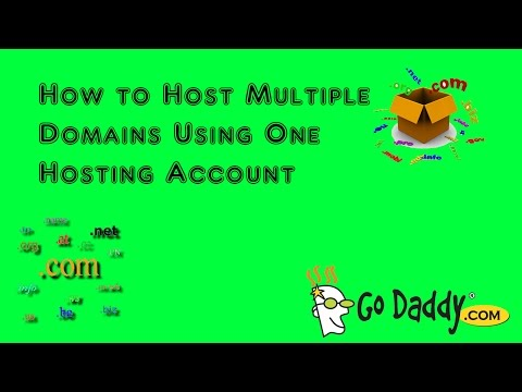 GoDaddy cPanel Addon Domains: Hosting Multiple Domains on One Host.  Add URL Domain Website Hosting