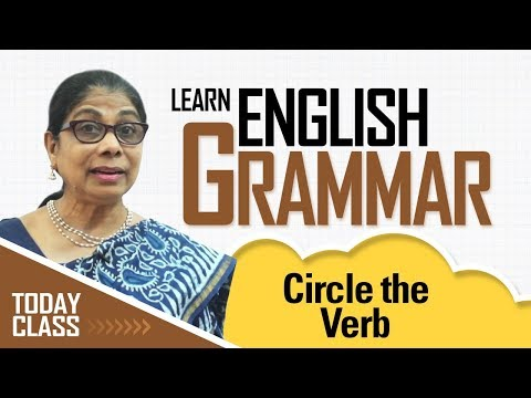 Learn English Grammar | Circle the verb | Basic English Grammar for kids