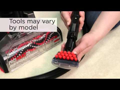How to use hose and tool on Proheat 2X Revolution | BISSELL