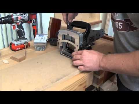 Biscuit Jointer Jig for Mitered Frame