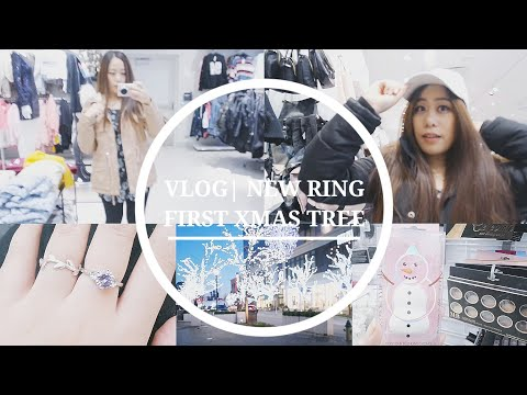 VLOG | NEW RING, FIRST XMAS TREE, COME SHOPPING WITH ME~