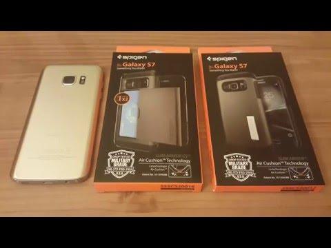Galaxy S7 Spigen Slim Armor vs Slim Armor CS Comparison