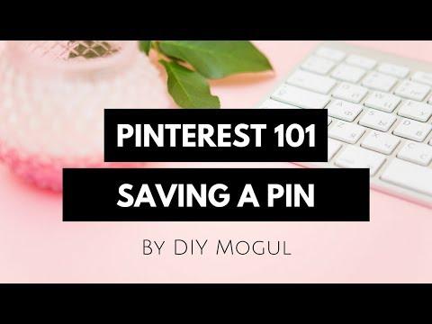 Pinterest, saving a pin