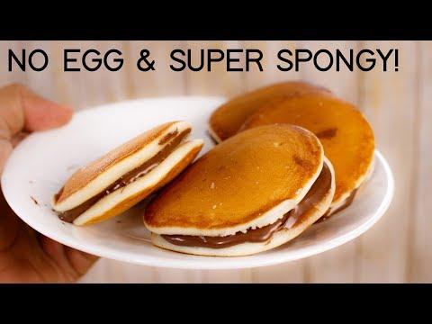 Dora Cake Recipe - Easy No Egg Super Spongy Dorayaki Doraemon - CookingShooking