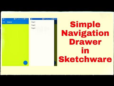 Simple Navigation drawer in Sketchware