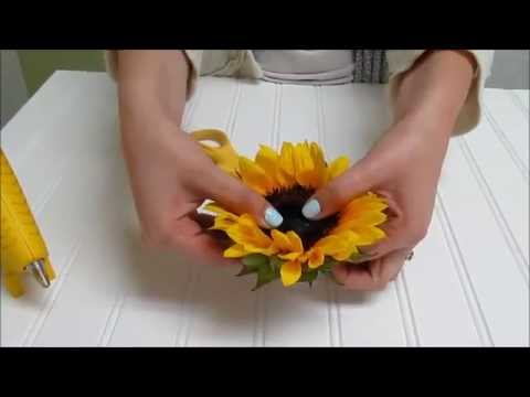 Sunflower Series: How to Make a Sunflower Corsage