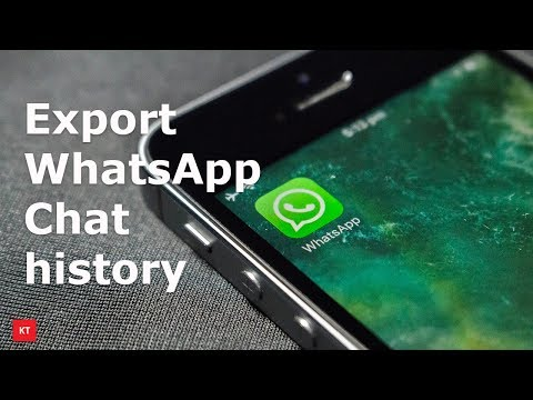 How to save or backup WhatsaApp chat history from your iPhone