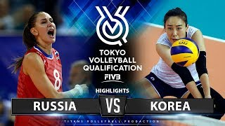 Russia vs Korea | Highlights | Women's Volleyball Olympic Qualifying Tournament 2019