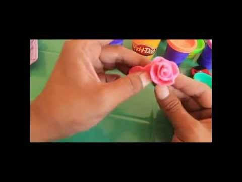 Tutorial on how to make miniature marzipan or clay roses