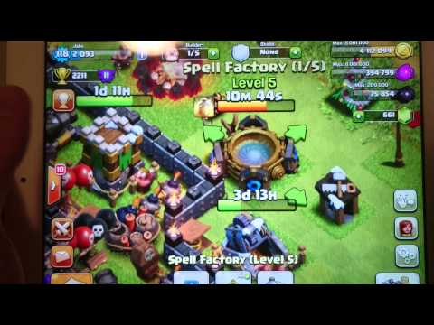 CoC - CRAZY spell factory GLITCH!