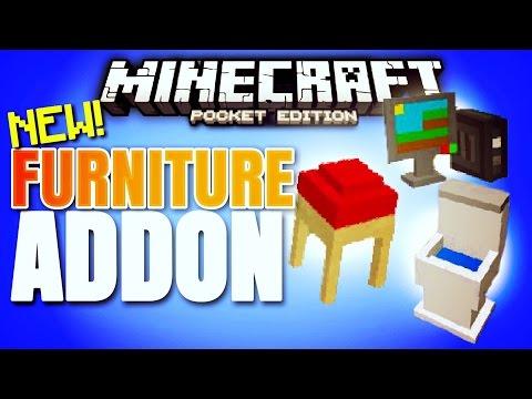 Minecraft Pocket Edition - FURNITURE in Minecraft PE!