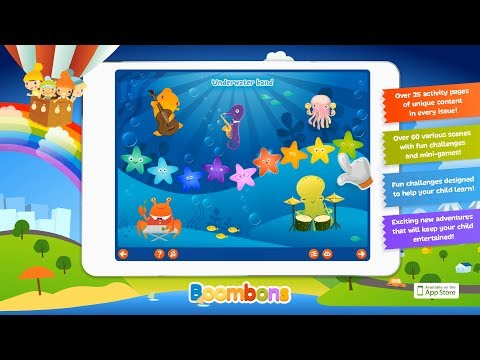 Boombons - an iPad interactive magazine, best educational games for kids