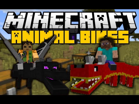 Minecraft: ANIMAL BIKES MOD (Ride Ender Dragons, Cows, Rabbits & More) Mod Showcase