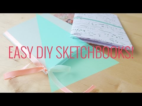 Easy no sew no glue no staple DIY sketchbooks!