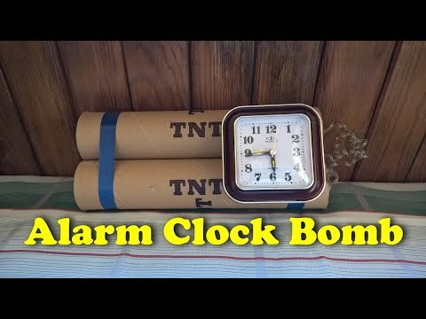 How to make a mockup of an explosive device (Alarm Clock Bomb)