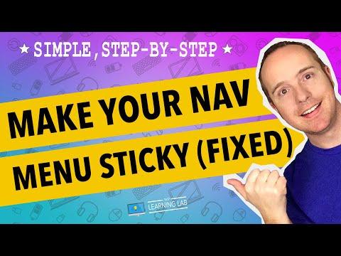 How To Create A Sticky Floating Navigation Menu